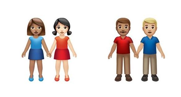 애플, 동성애 커플 위한 이모티콘 선보여