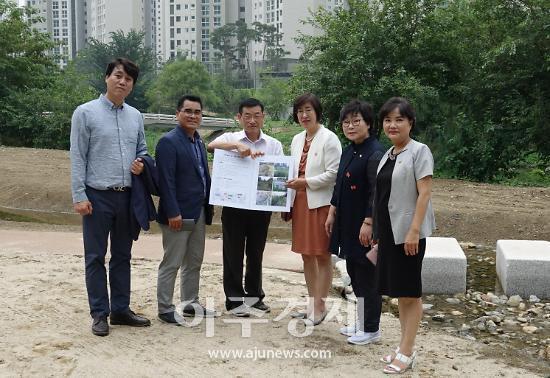 안양시의회 도시건설위,  습지복원 정비 사업 현장 방문