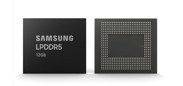 Samsung begins mass production of first 12Gb mobile DRAM for high-end 5G smartphones