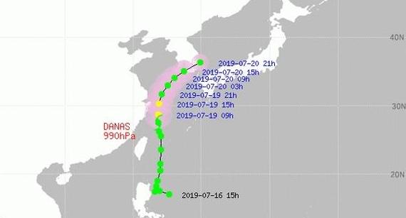 태풍 다나스 오늘 제주 상륙…주말 한반도 관통