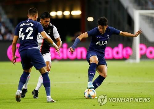 손흥민 골대 강타 토트넘, 호날두 골 유벤투스에 극적인 3-2 역전승