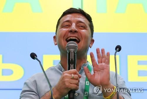 우크라 총선, 코미디언 젤렌스키 대통령 여당 압승 전망