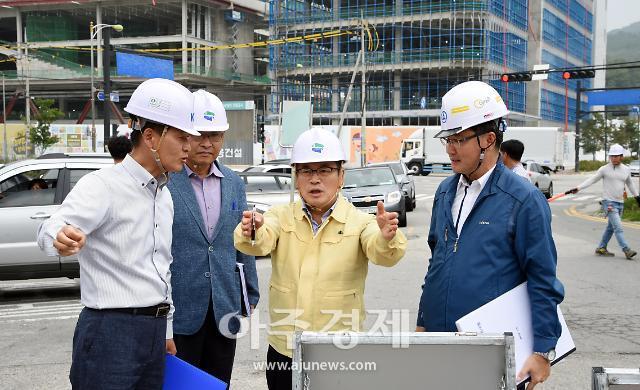 [포토] 홍귀선 의정부시 부시장, 을지대 추진상황 점검