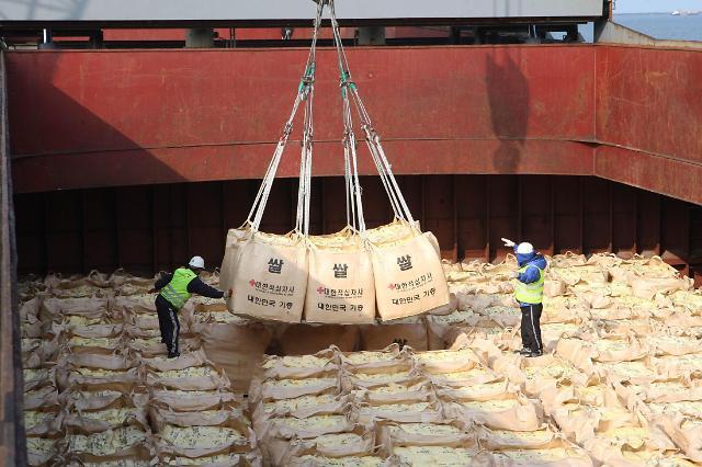 韩统一部:力争首批援朝大米月内装船发运
