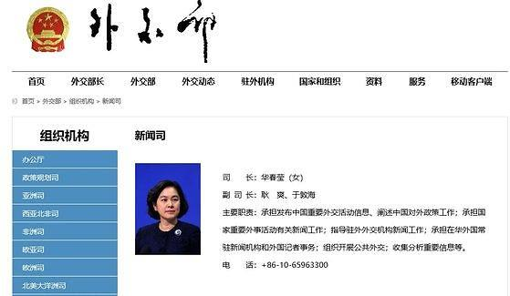 [Who?] 중국 첫 외교부 신문사 여성 국장 화춘잉