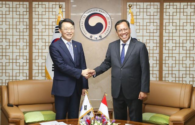 김현준 국세청장, 인니 청장 만나 韓기업 세정지원 요청