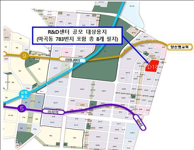 서울시, 마곡에 민간자본으로 강소·벤처기업 R&D센터 짓는다