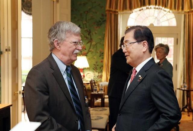 美国国安顾问博尔顿访韩 或调解韩日矛盾