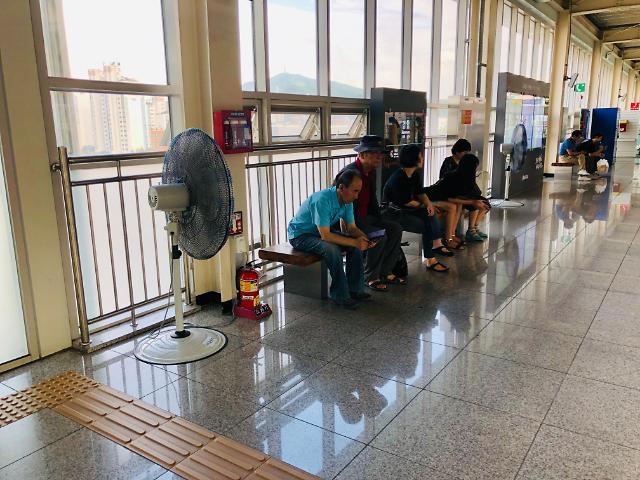 인천교통공사,인천2호선 지상역사 승강장에 대형선풍기 비치