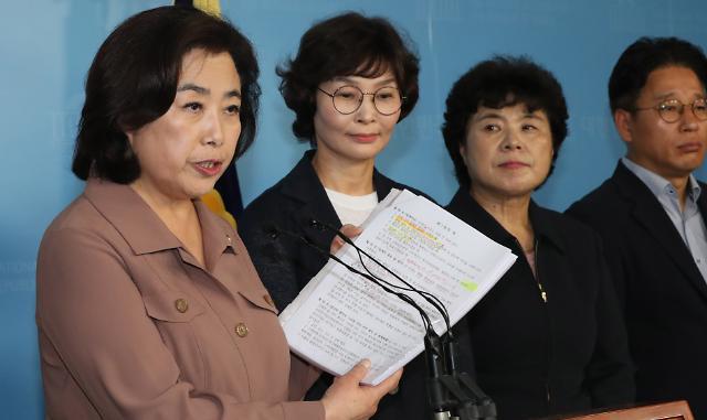 [포토] 사퇴거부 기자회견 하는 박순자