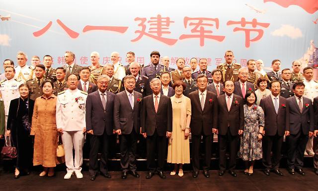 中国驻韩国大使馆举行庆祝建军92周年招待会