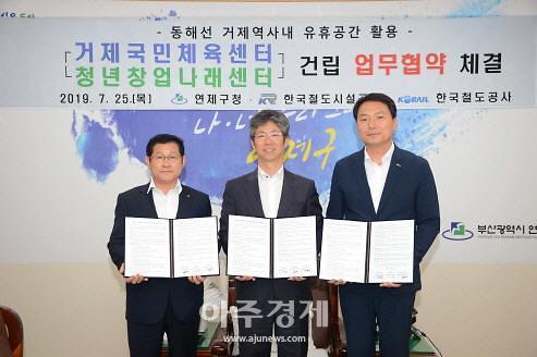 철도공단 영남본부, 동해선 거제역 유휴공간에 국민체육센터 건립