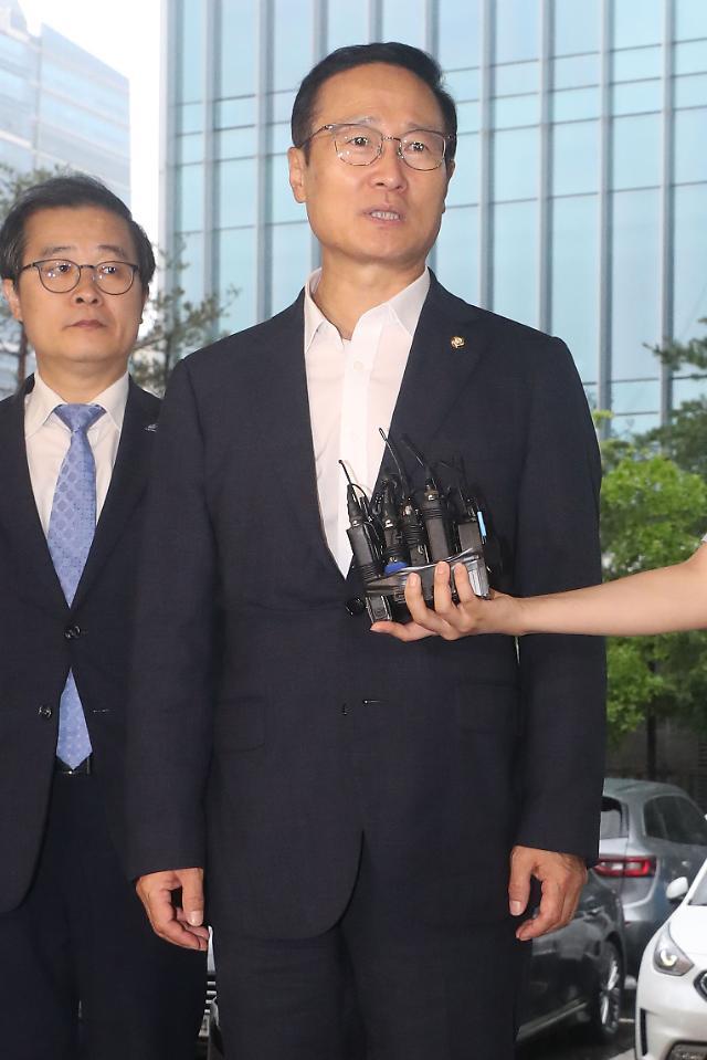 """홍영표 경찰 출석 """"국민께 송구…한국당도 조사 응해야"""""""