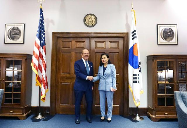 韩产业部官员会见美商务部长讨论日本限贸