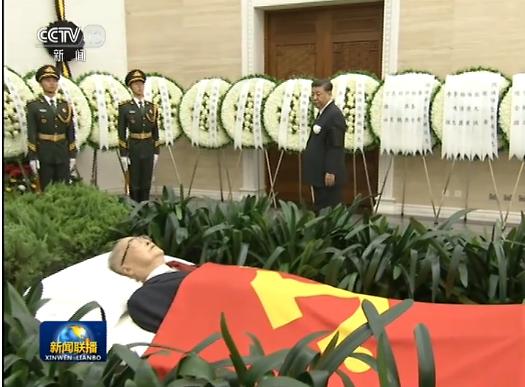 中 리펑 전 총리 영결식에 시진핑·장쩌민 등 참석...톈안먼 조기 게양