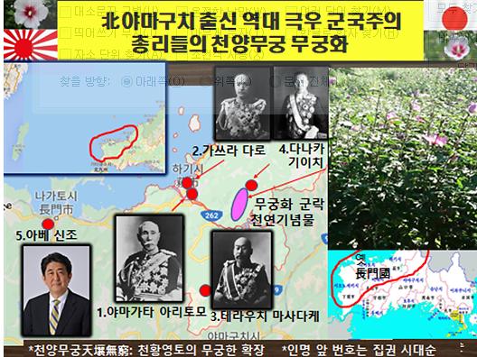 [강효백의 新경세유표 12-17]아베의 고향 선배 군국주의 日총리들의 '천양무궁화'