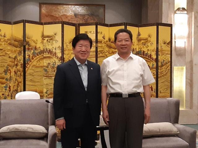 """박병석 """"한-中랴오닝성, 신북방정책-일대일로 협력 공감대"""""""