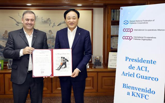 """아리엘 과르코 ICA회장, """"한국수협 어선안전지원시스템 세계적 모범"""""""