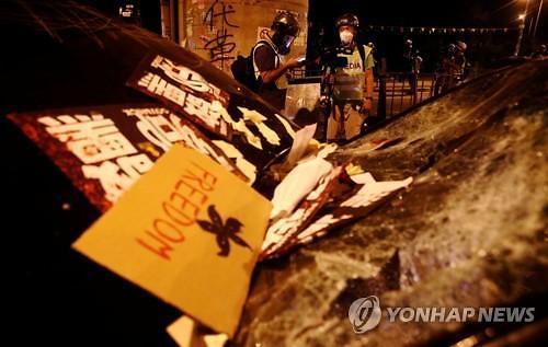 """중국, 홍콩 시위 관련 미국 비판...""""中지지 북한 호감"""""""