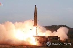 .N. Korea launches short-range ballistic missiles into sea .