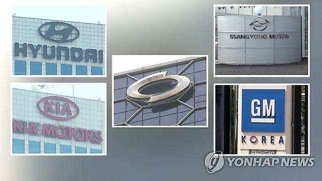 국내 완성차 5사, 7월 판매량 '주춤'