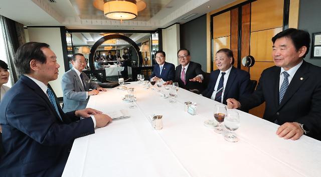 韩国国会代表团介绍访日结果