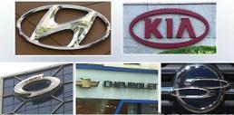 .韩国五大整车厂商7月销量继续低迷.