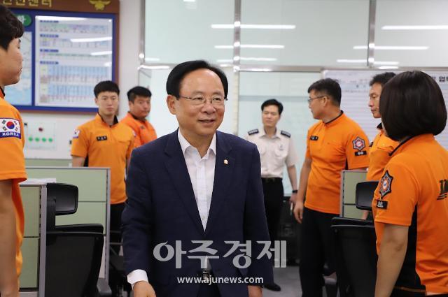 이주영 국회부의장, 폭염 속 창원소방본부 격려 방문