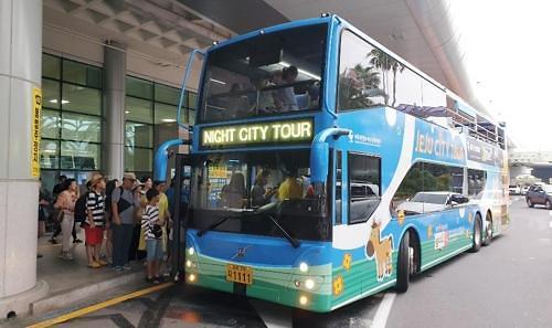 济州岛推出夜间观光巴士 深受游客好评