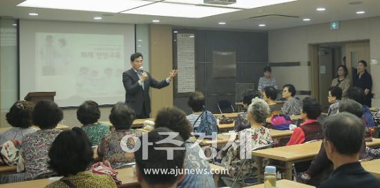 김상돈 의왕시장, 노인 일자리사업 참여시 각별히 유의해달라