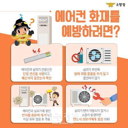 과천소방, 폭염 속 냉방기 사용 각별한 주의 필요
