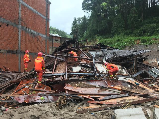 [중국포토]태풍 레끼마 휩쓴 저장성… 28명 사망·20명 실종