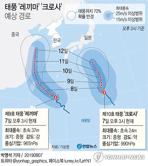 """태풍 크로사 대비하는 일본...""""강풍·해일 주의"""""""