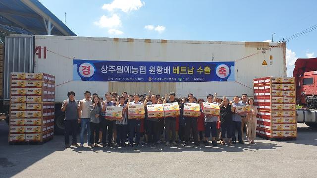 상주원예농협, 올해 '원황배' 베트남으로 첫 수출!