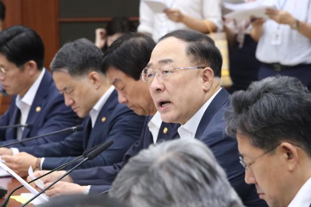 """홍남기 """"하반기 16.5조 SOC사업 신속 집행"""""""