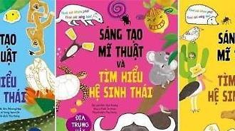 Bộ sách 'Sáng tạo Mĩ thuật và tìm hiểu sinh thái' của Hàn Quốc được dịch và xuất bản tại Việt Nam.