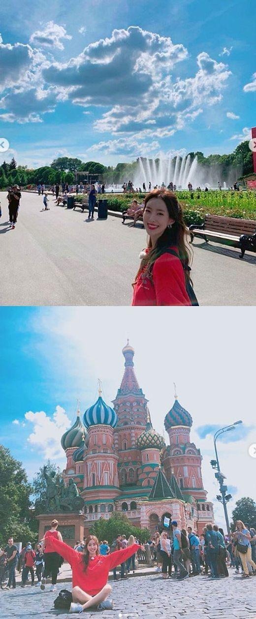 "[#SNS★] 진세연, 물오른 미모, 러시아 여행 모습 공개 ""재밌다"""