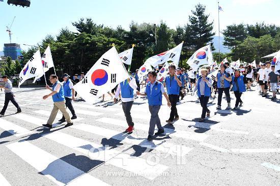하남시 나라사랑 태극기 달기 운동 가두 캠페인 벌여