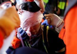 .中国官媒严厉谴责香港示威者机场暴行.