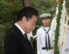 74주년 광복절...이 총리, 대한민국 총리로 처음 광복군 합동묘역 참배