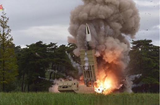 [포토] 북한, 신형 탄도 미사일 시험 발사