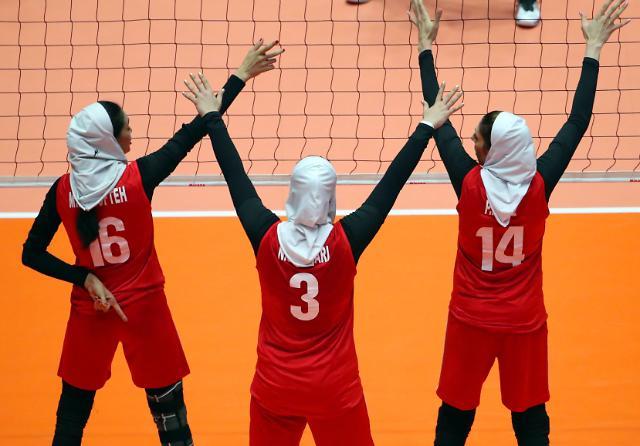 [포토] 히잡 쓴 이란 배구대표팀