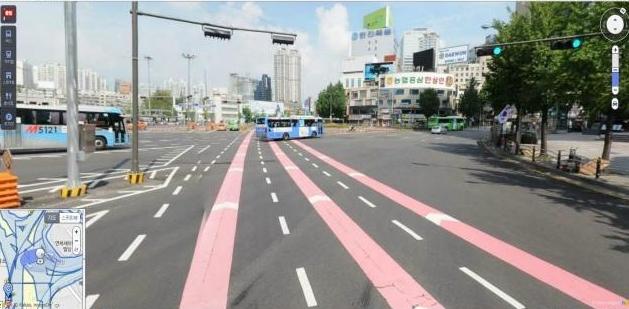 인천시, 교통안전 강화대책으로 노면색깔 유도선 설치