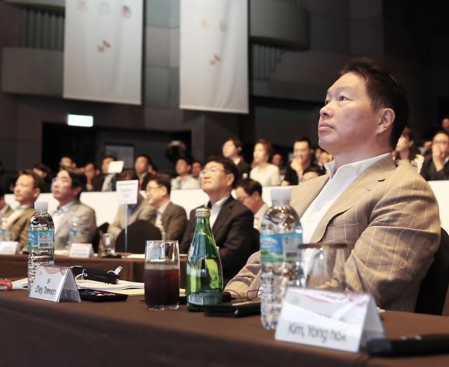 [포토] SK 이천포럼 참석한 최태원 회장