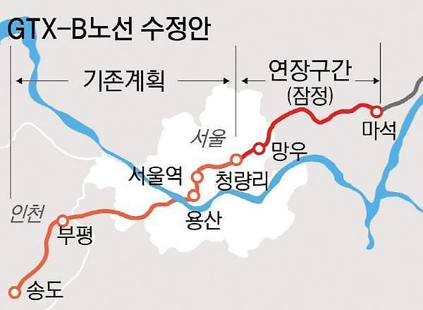 금주 GTX-B 예타 결과 발표 난다...기대감 도는 송도·남양주 부동산시장 들썩