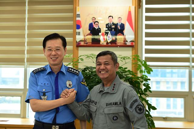 인니 해양경찰, 스마트 해양경찰 배우러 한국 방문