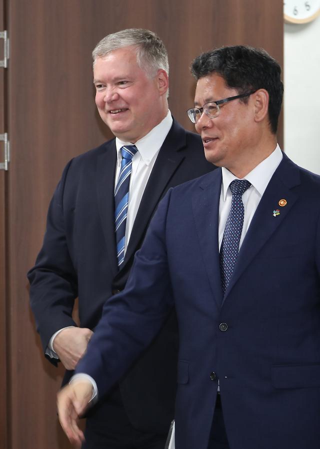 靑 비건 대표, 22일 김현종 면담…북미 비핵화협상 논의할 듯