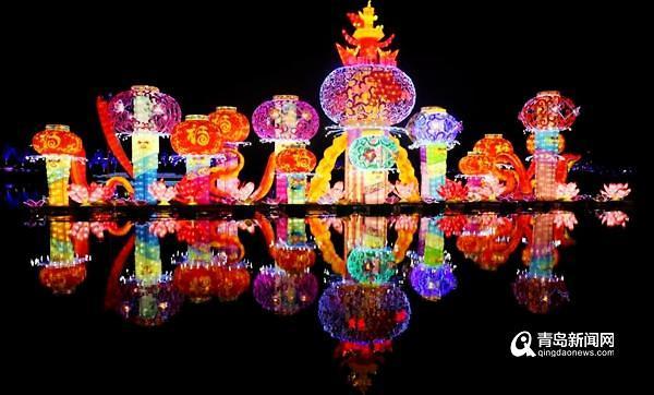 [중국포토]화려한 빛의 향연…中 칭다오 등불축제 개막