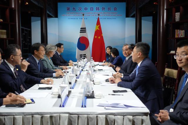한·중 외교장관 회담서 한·일 갈등 논의…中 역할 하겠다