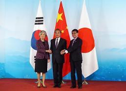 .韩中日外交部长将加强无核和构建经济共同体合作…韩日矛盾仍原地踏步.
